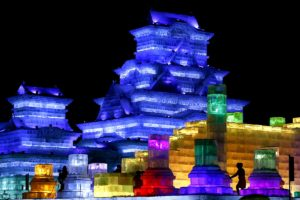 Ice scupltures are seen in Harbin on January 5, 2010. (AFP/Getty Images)